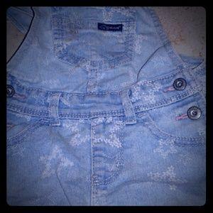 Jordache blue jean overalls